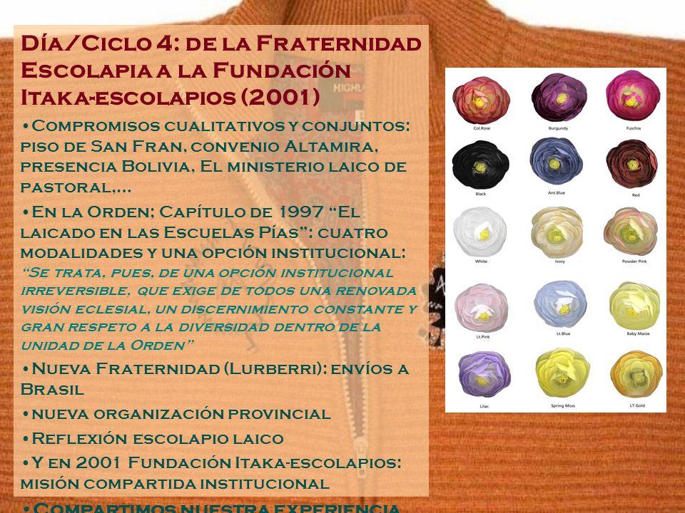 Día/Ciclo 4: de la Fraternidad Escolapia a la Fundación Itaka-escolapios (2001)