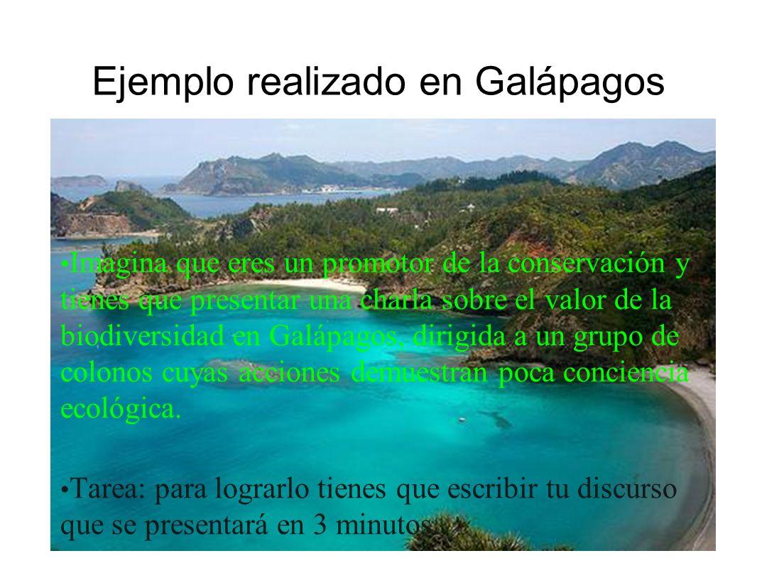 Ejemplo realizado en Galápagos