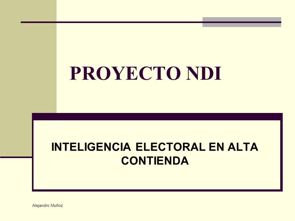 INTELIGENCIA ELECTORAL EN ALTA CONTIENDA