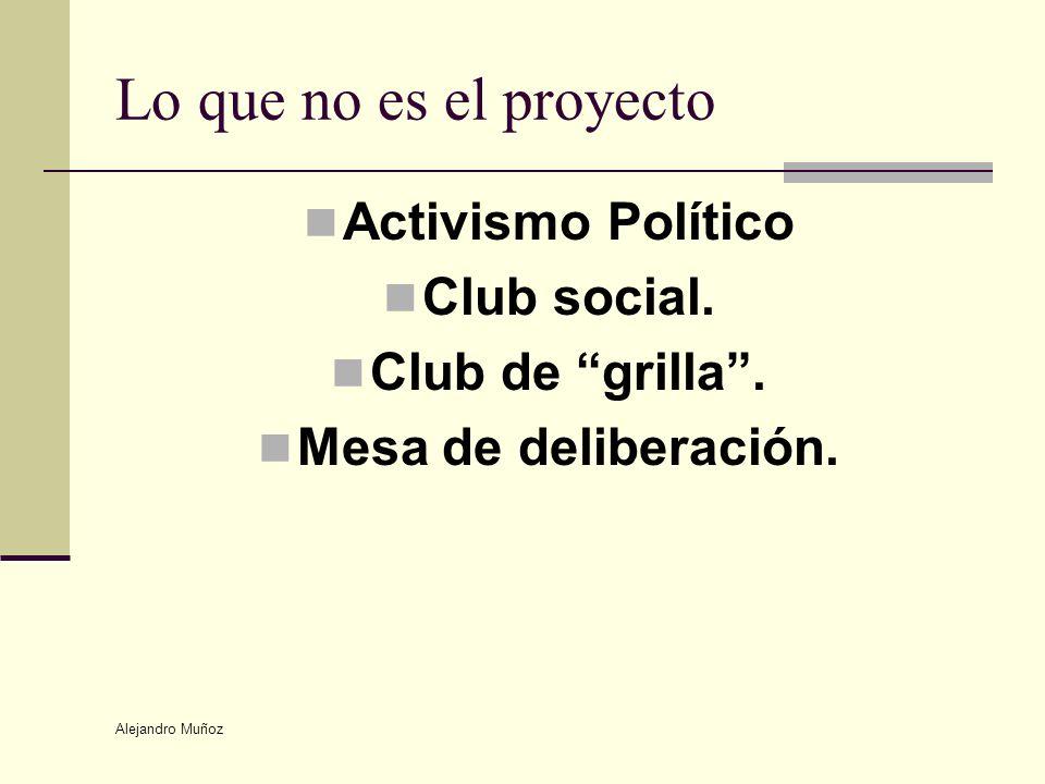 Lo que no es el proyecto Activismo Político Club social.
