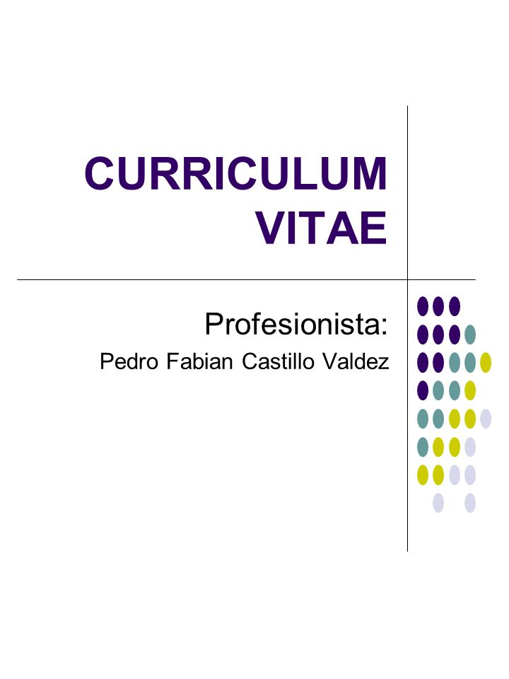 Profesionista: Pedro Fabian Castillo Valdez