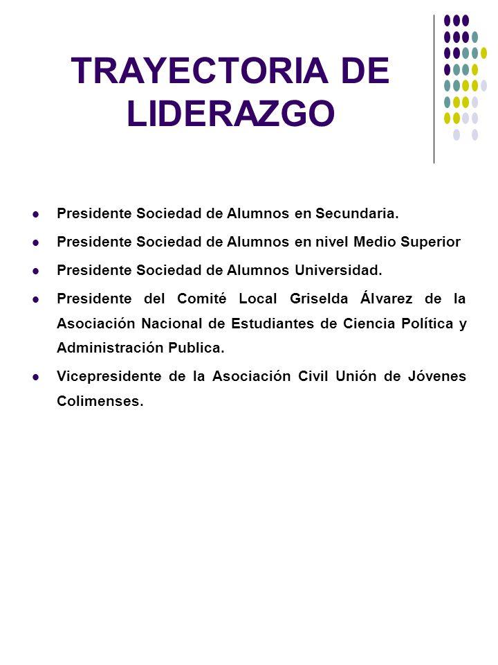TRAYECTORIA DE LIDERAZGO