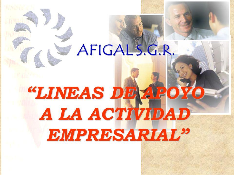 LINEAS DE APOYO A LA ACTIVIDAD EMPRESARIAL