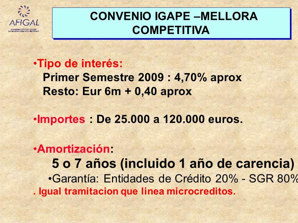 CONVENIO IGAPE –MELLORA COMPETITIVA