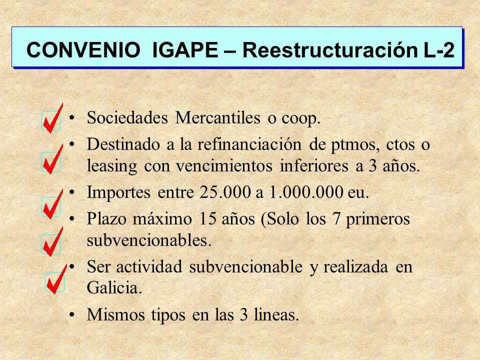 CONVENIO IGAPE – Reestructuración L-2