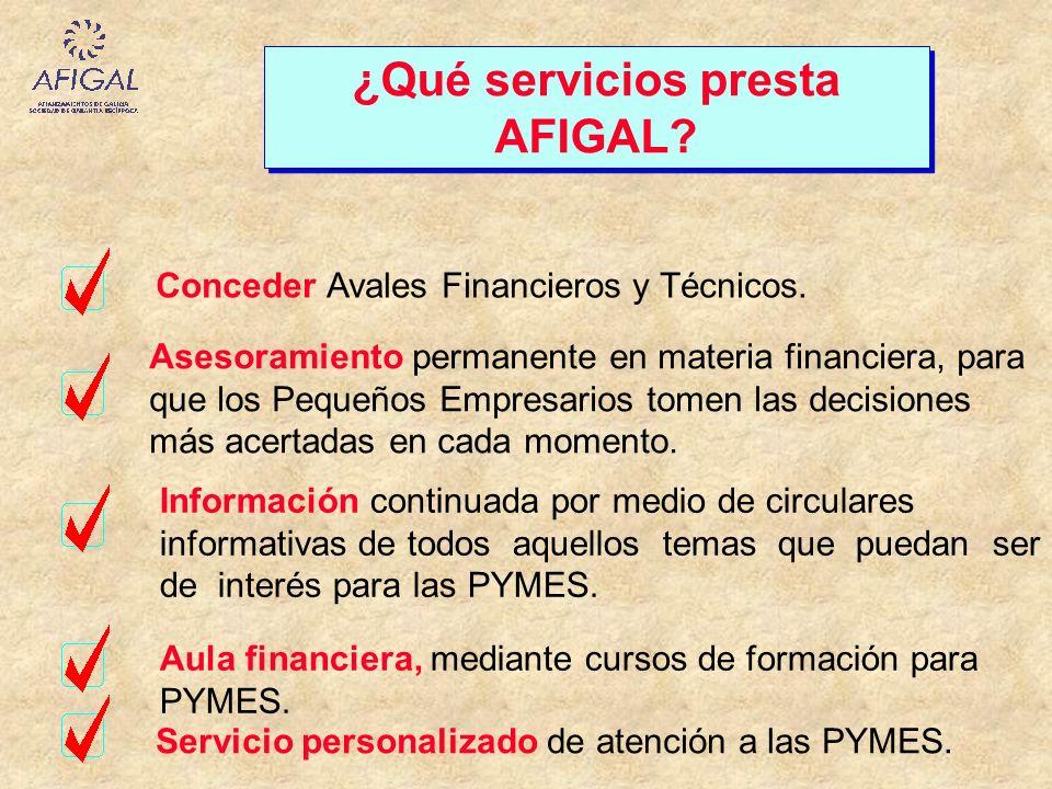 ¿Qué servicios presta AFIGAL