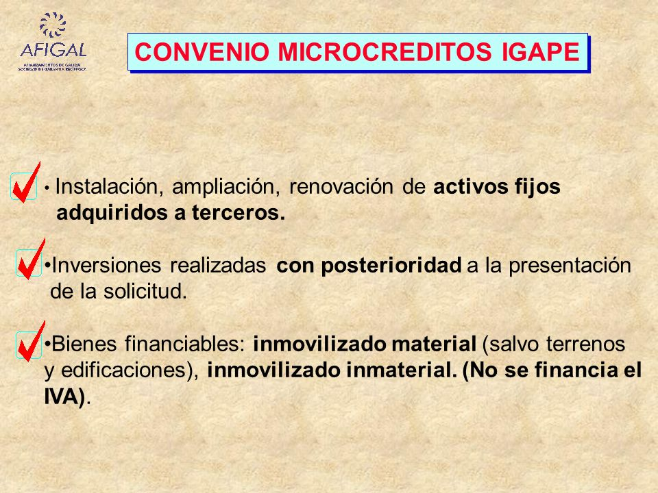 CONVENIO MICROCREDITOS IGAPE