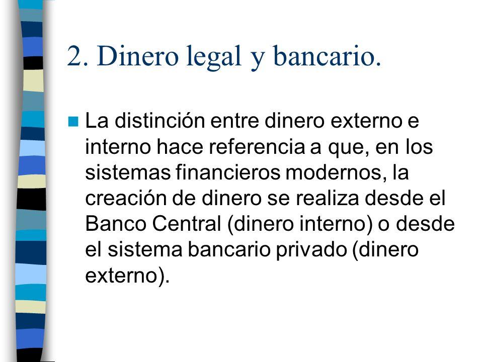 2. Dinero legal y bancario.