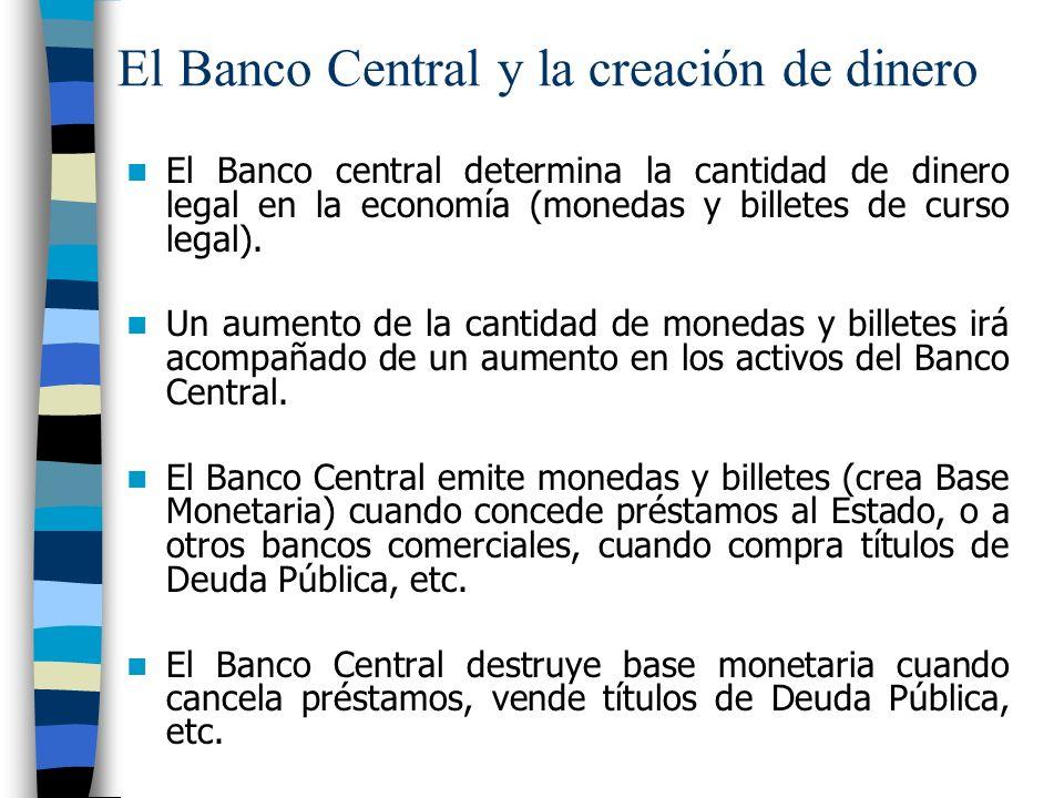El Banco Central y la creación de dinero