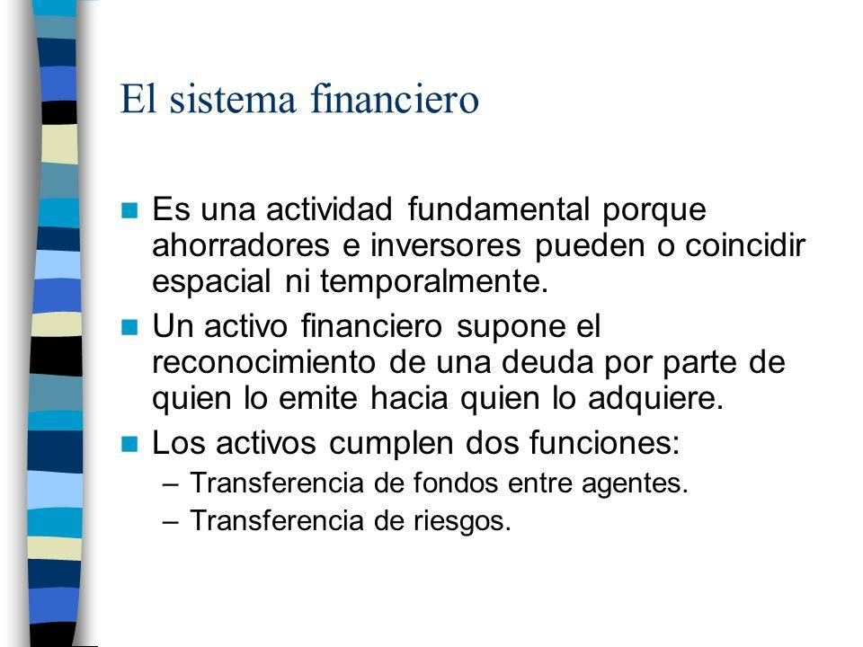 El sistema financiero Es una actividad fundamental porque ahorradores e inversores pueden o coincidir espacial ni temporalmente.