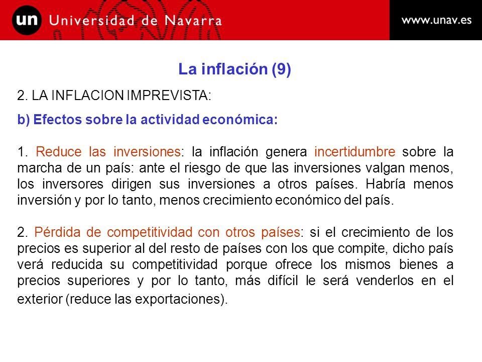 La inflación (9) 2. LA INFLACION IMPREVISTA: