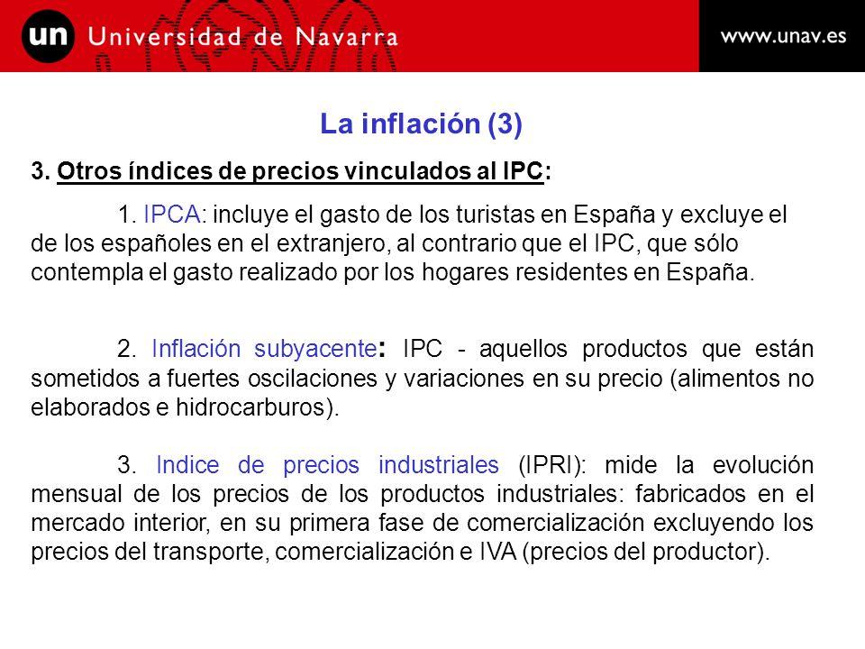La inflación (3) 3. Otros índices de precios vinculados al IPC: