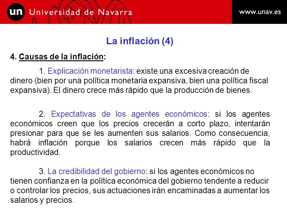 La inflación (4) 4. Causas de la inflación:
