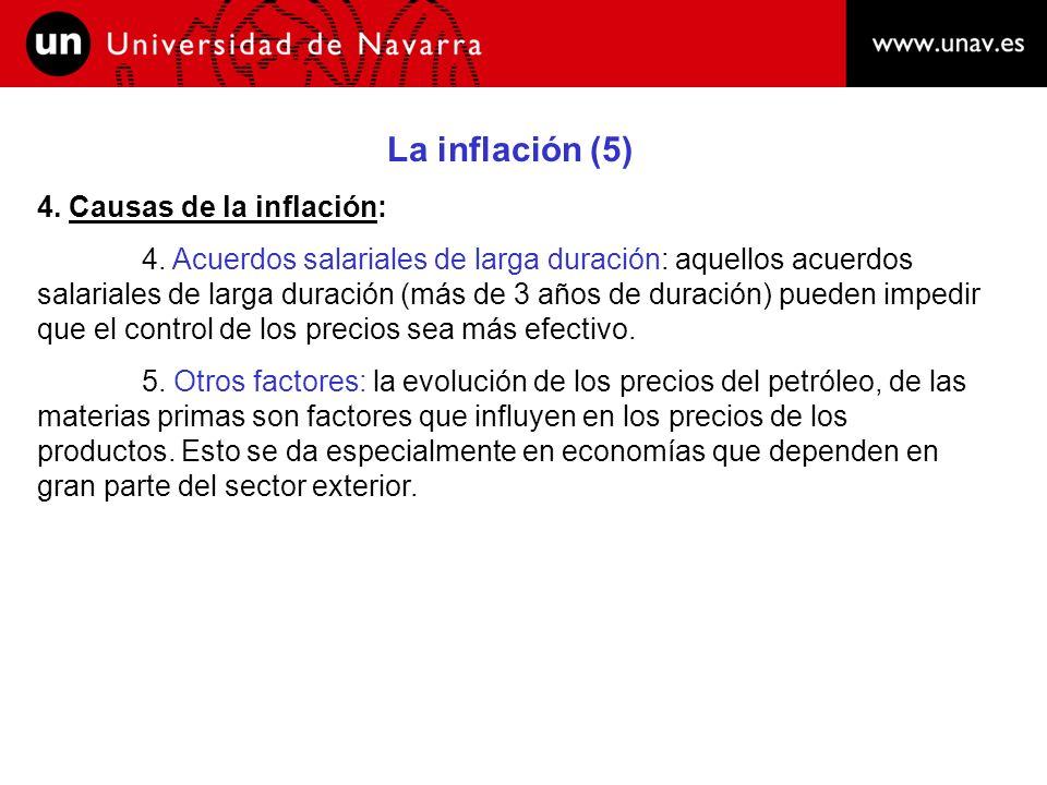 La inflación (5) 4. Causas de la inflación: