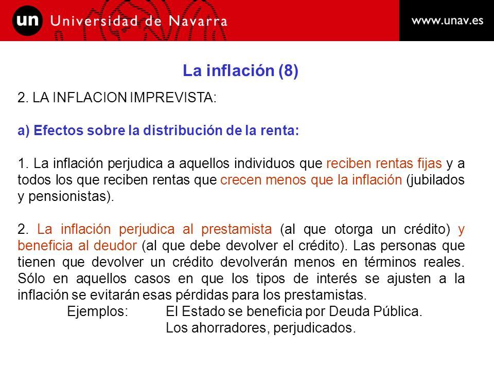 La inflación (8) 2. LA INFLACION IMPREVISTA: