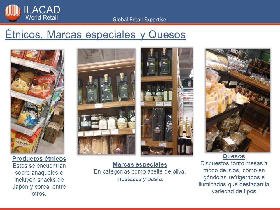 En categorías como aceite de oliva, mostazas y pasta.