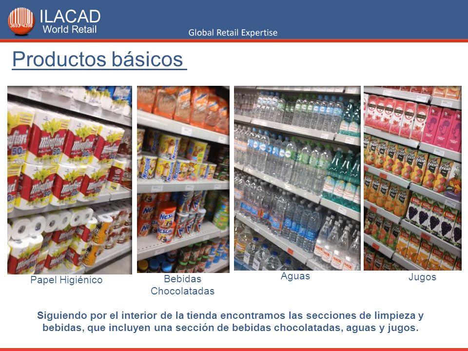 Productos básicos Aguas Jugos Papel Higiénico Bebidas Chocolatadas