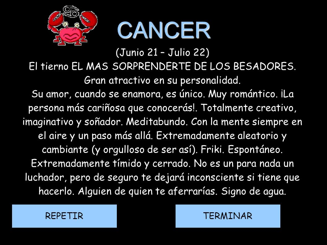 CANCER (Junio 21 – Julio 22)‏