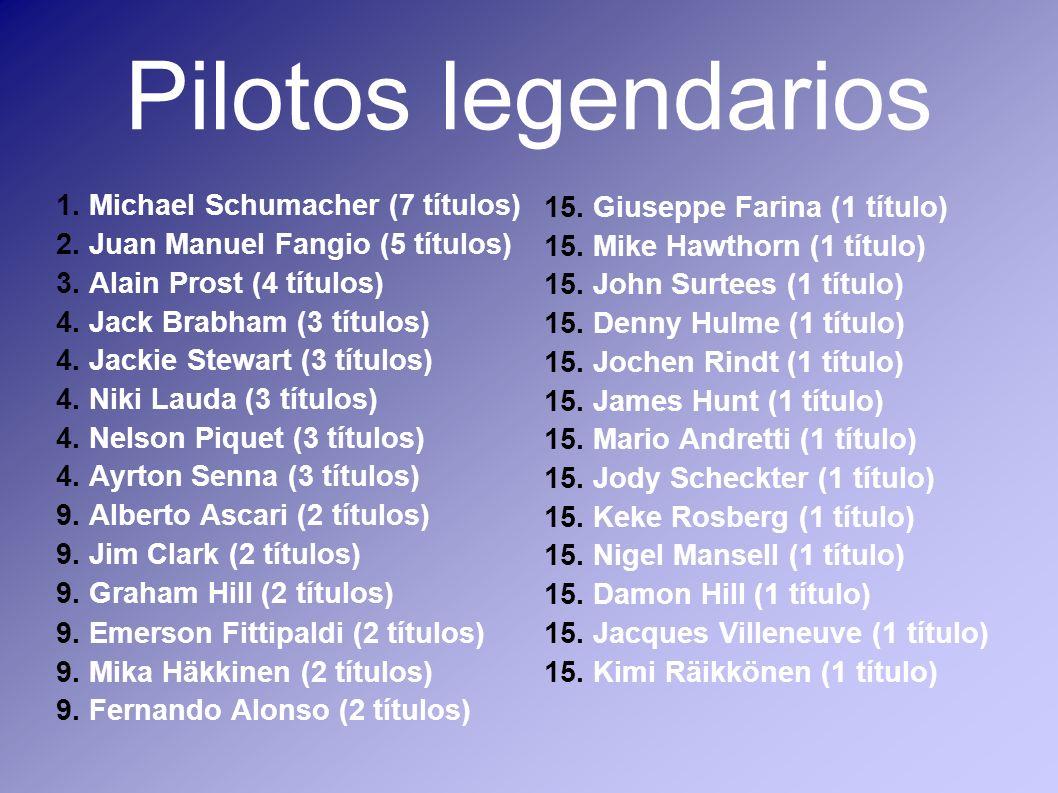 Pilotos legendarios 1. Michael Schumacher (7 títulos)