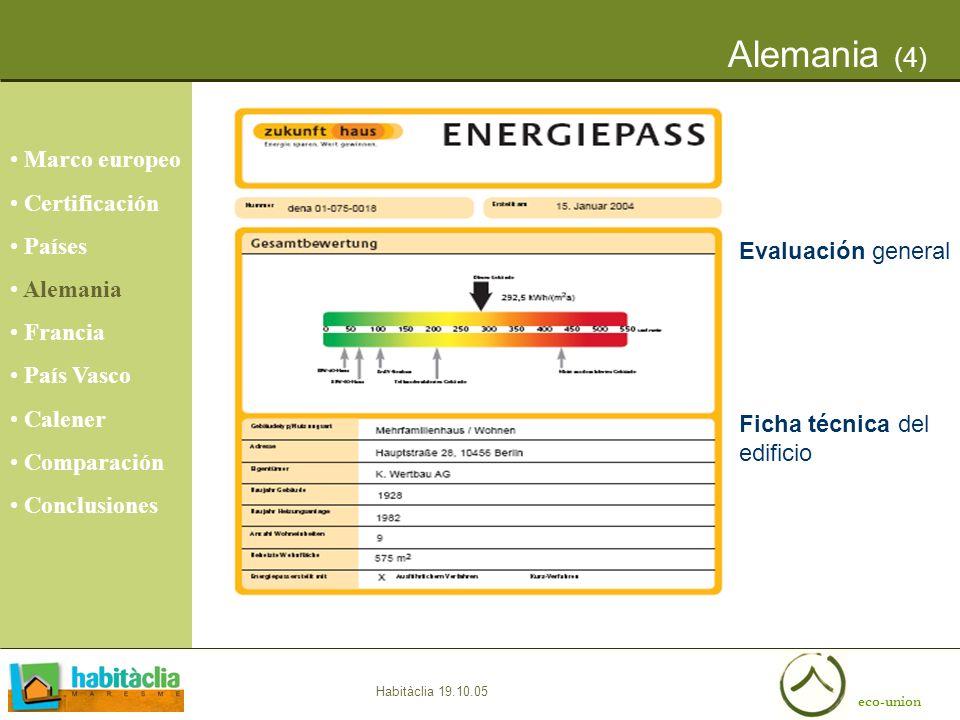 Alemania (4) Marco europeo Certificación Países Alemania Francia