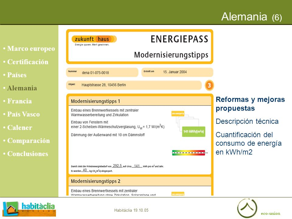 Alemania (6) Marco europeo Certificación Países Alemania Francia