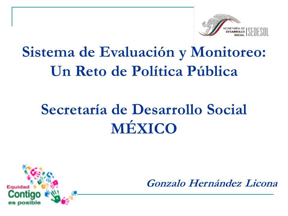 Sistema de Evaluación y Monitoreo: Un Reto de Política Pública