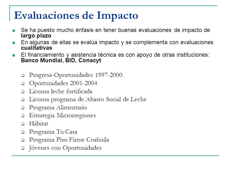 Evaluaciones de Impacto