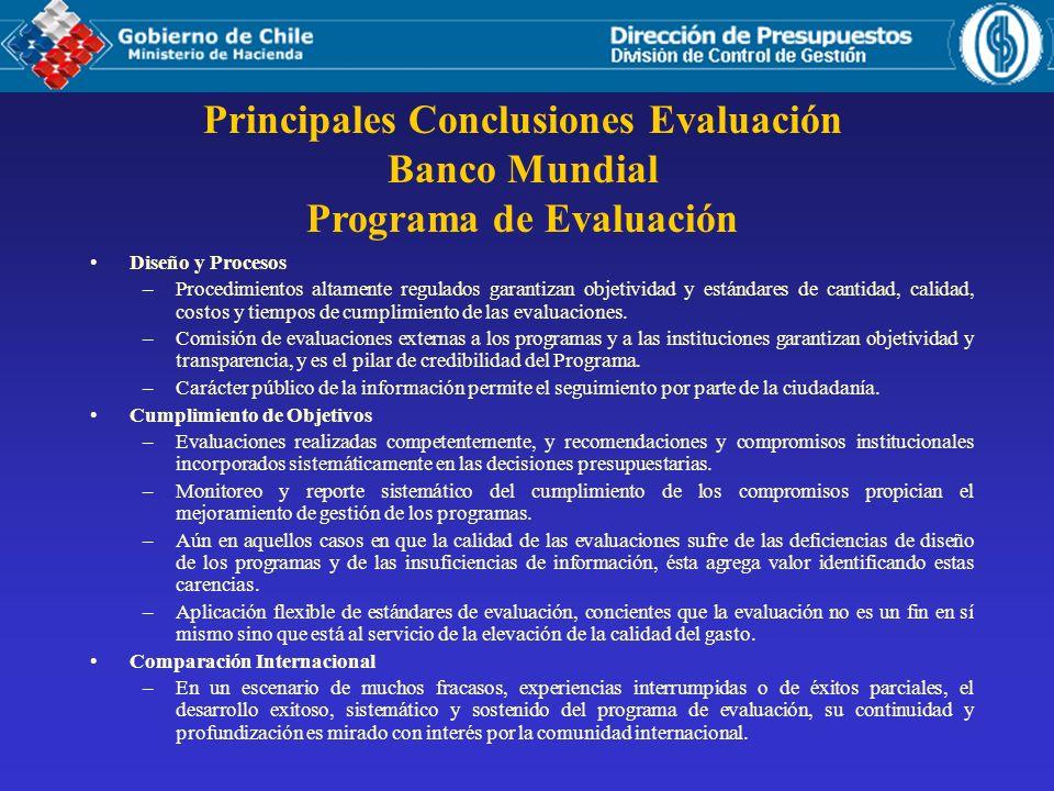 Principales Conclusiones Evaluación Programa de Evaluación