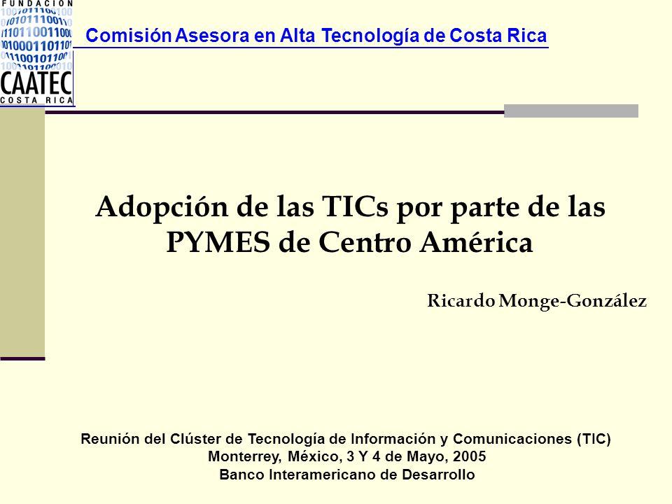 Adopción de las TICs por parte de las PYMES de Centro América