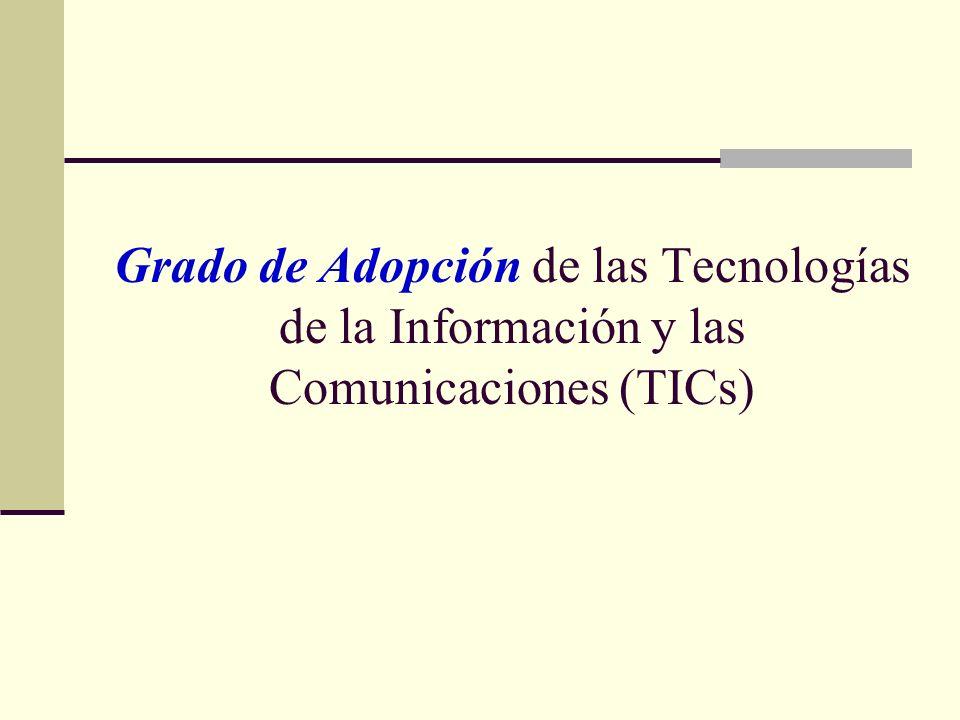 Grado de Adopción de las Tecnologías de la Información y las Comunicaciones (TICs)