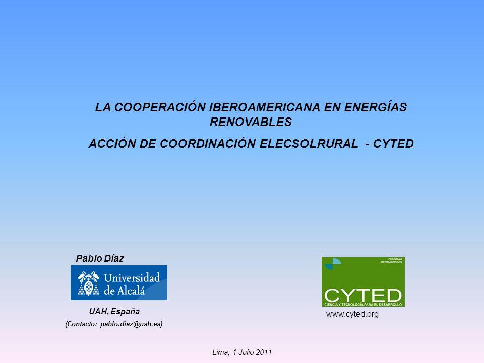 LA COOPERACIÓN IBEROAMERICANA EN ENERGÍAS RENOVABLES