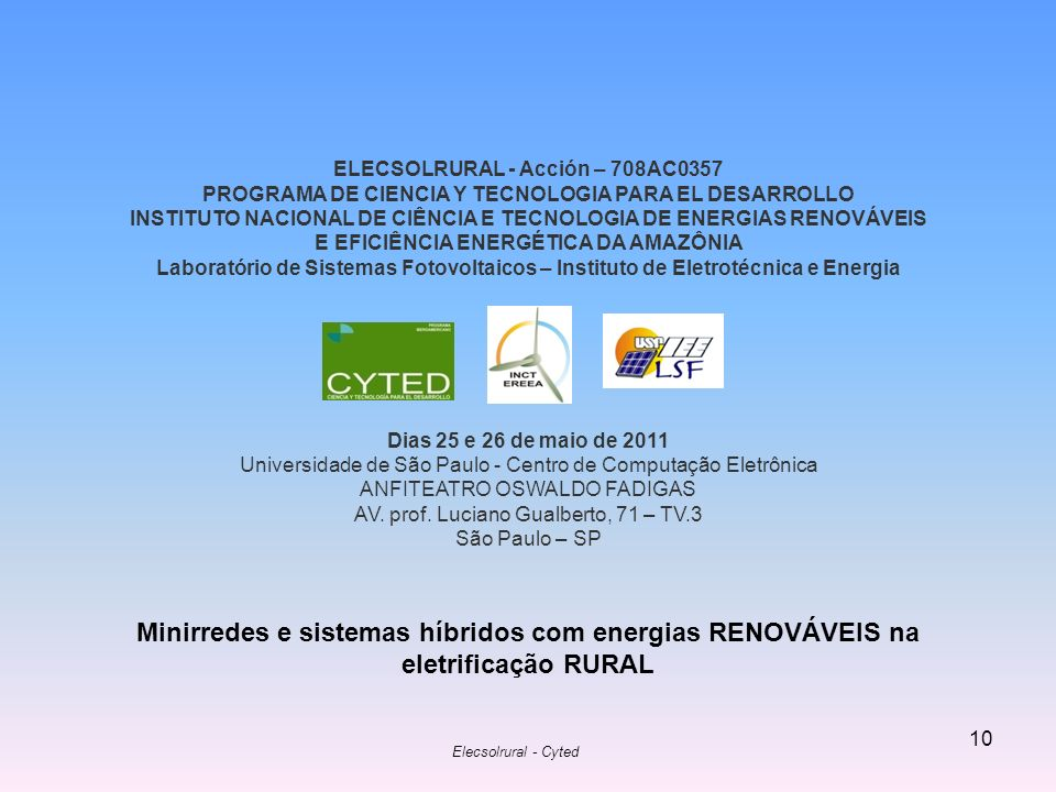 ELECSOLRURAL - Acción – 708AC0357