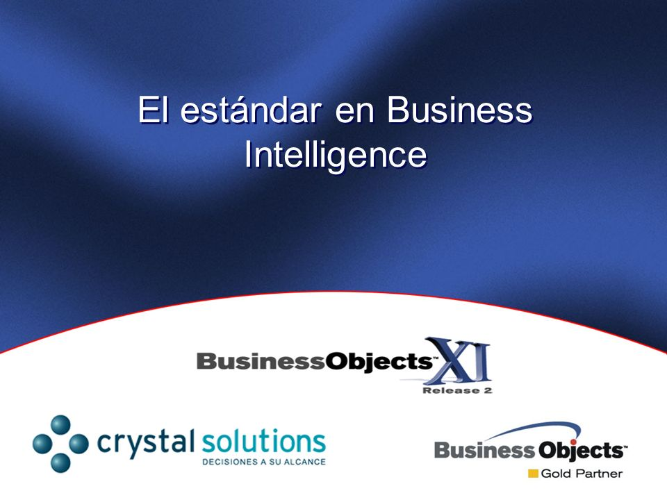 El estándar en Business Intelligence