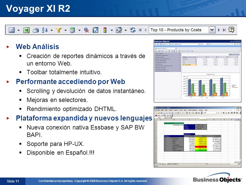 Voyager XI R2 Web Análisis Performante accediendo por Web