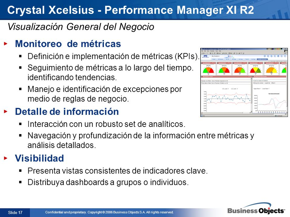 Crystal Xcelsius - Performance Manager XI R2