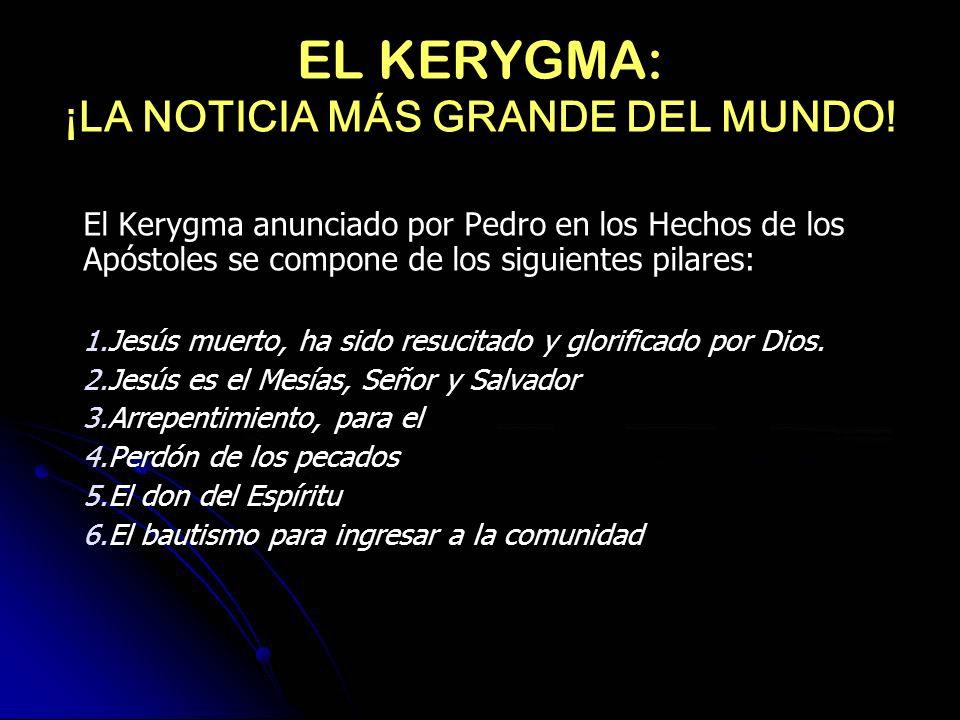 EL KERYGMA: ¡LA NOTICIA MÁS GRANDE DEL MUNDO!