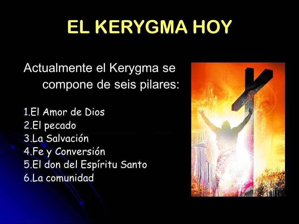 EL KERYGMA HOY Actualmente el Kerygma se compone de seis pilares: