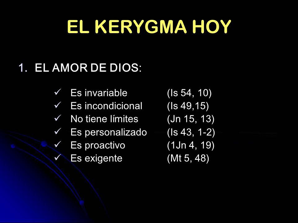 EL KERYGMA HOY EL AMOR DE DIOS: Es invariable (Is 54, 10)