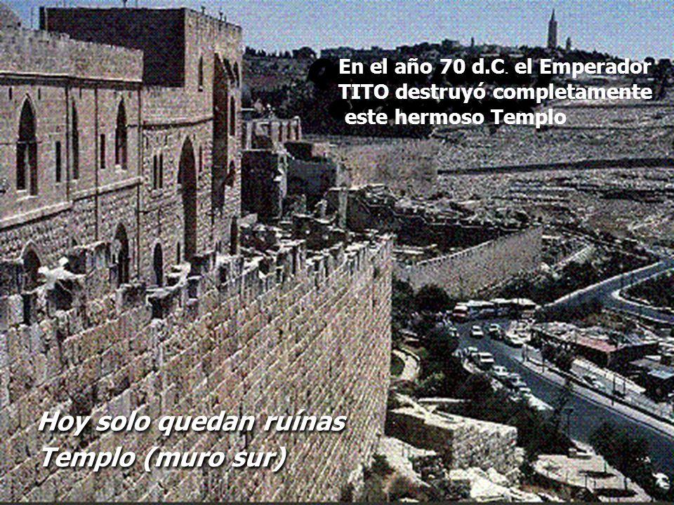 Quedan ruinas y excavaciones
