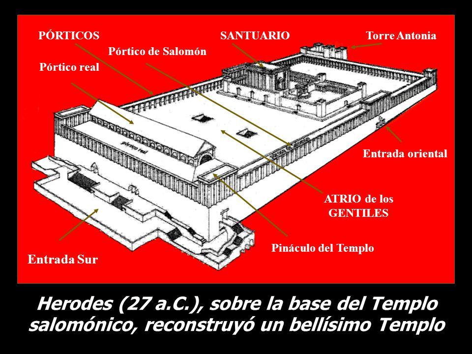 PÓRTICOS SANTUARIO. Torre Antonia. Pórtico de Salomón. Pórtico real. Entrada oriental. ATRIO de los.