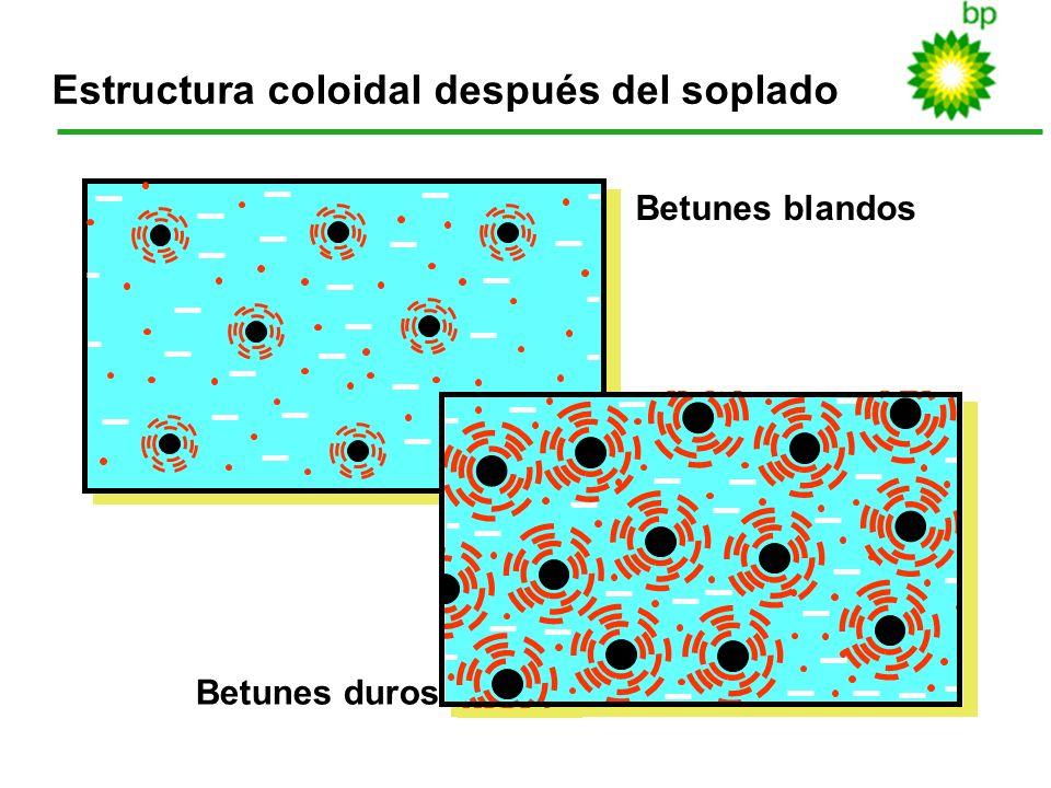Estructura coloidal después del soplado