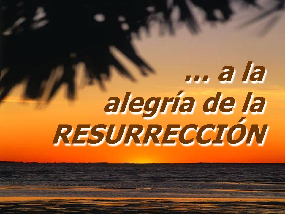 … a la alegría de la RESURRECCIÓN