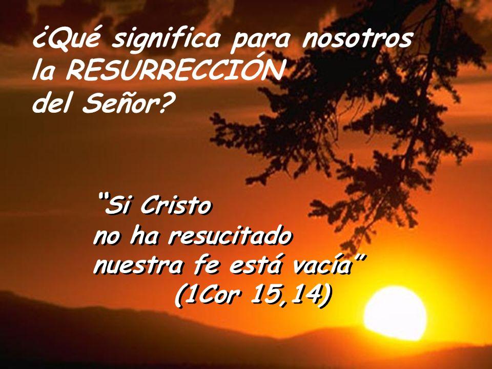 ¿Qué significa para nosotros la RESURRECCIÓN del Señor