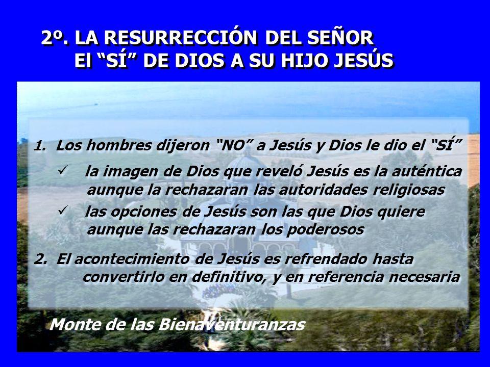 2º. LA RESURRECCIÓN DEL SEÑOR El SÍ DE DIOS A SU HIJO JESÚS