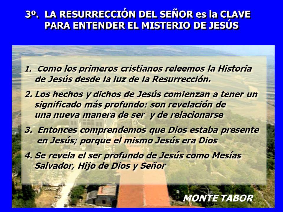 3º. LA RESURRECCIÓN DEL SEÑOR es la CLAVE