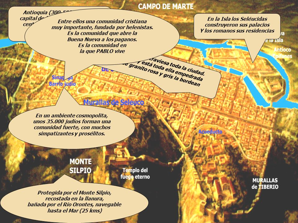 capital de la Provincia de SIRIA, centro de comunicación entre