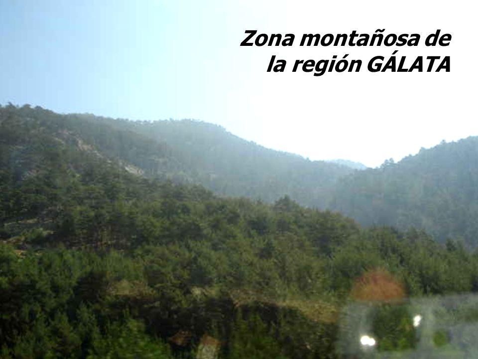 Zona montañosa de la región GÁLATA