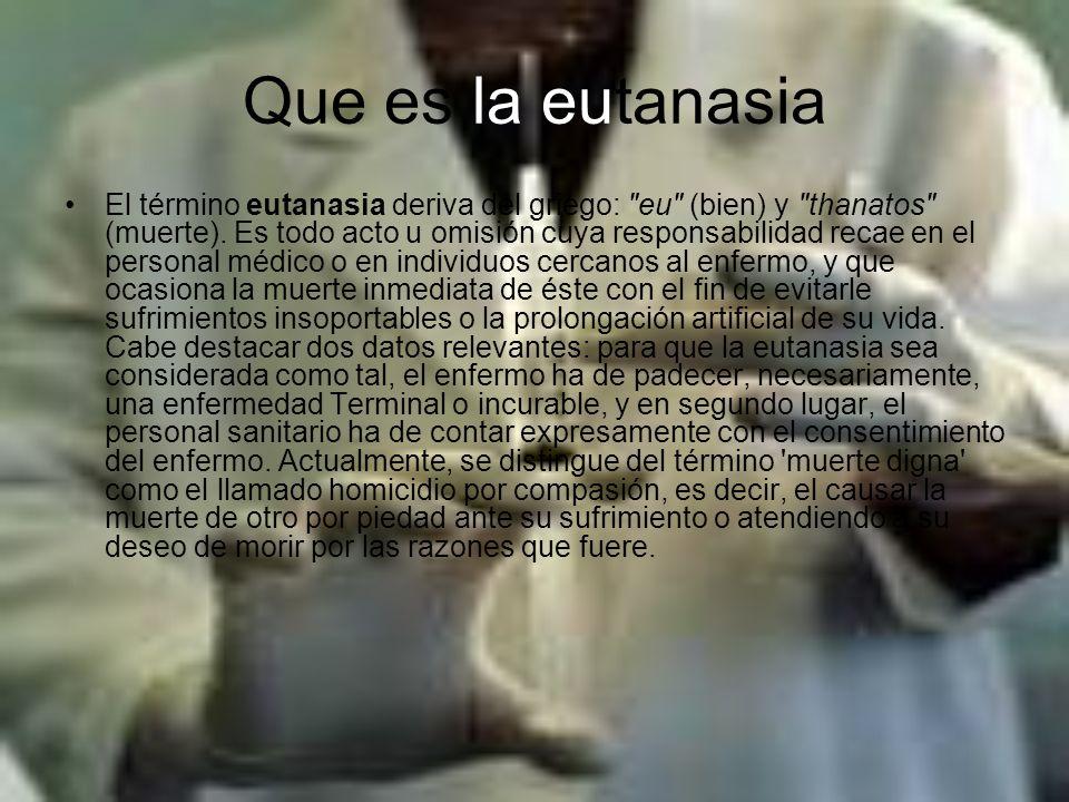Que es la eutanasia