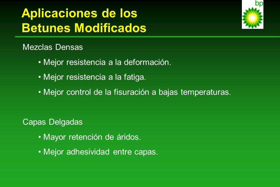Aplicaciones de los Betunes Modificados