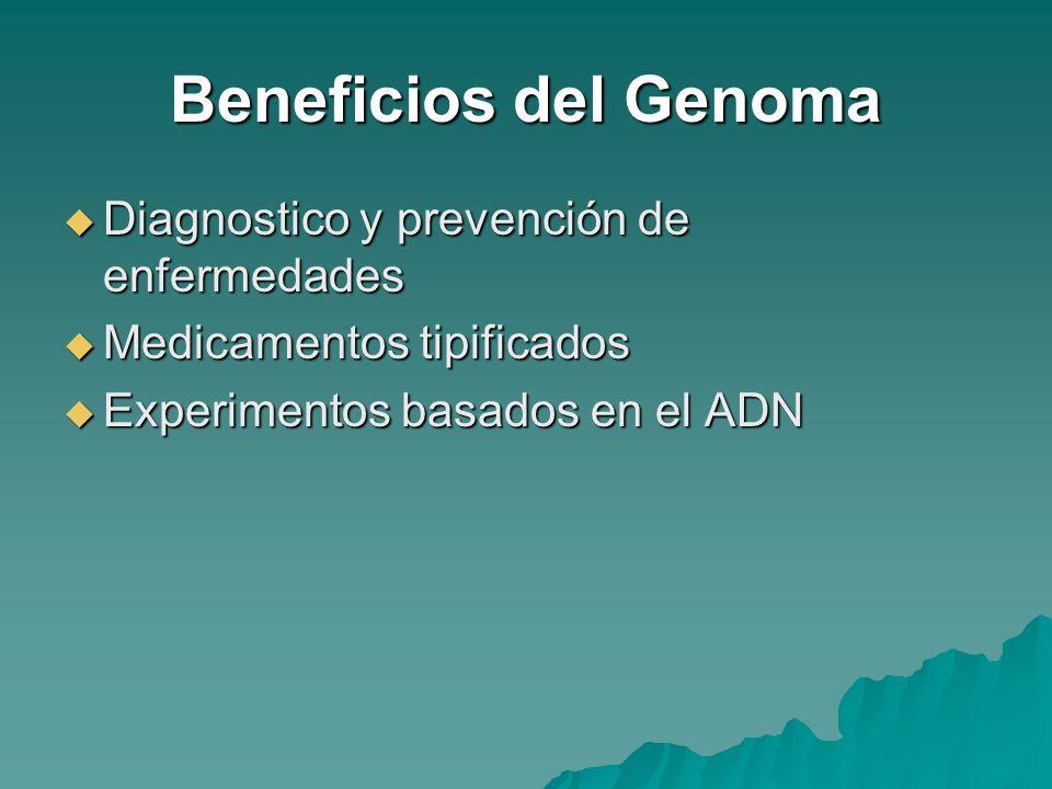 Beneficios del Genoma Diagnostico y prevención de enfermedades